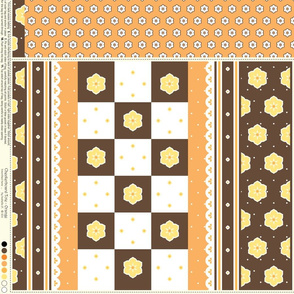 Checkerboard Tote - Orange - flexible kit plus bonus