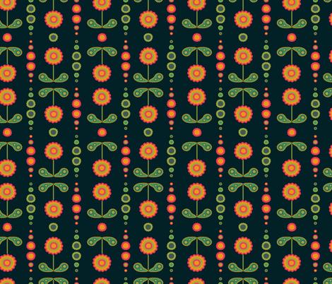 paisley flowers fabric by mondaland on Spoonflower - custom fabric