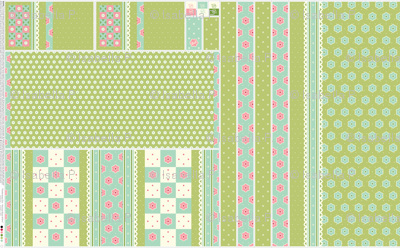 Checkerboard Tote - Victorian Green and Rose - flexible kit plus bonus