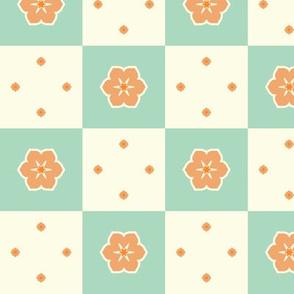 Checkerboard Petal - Victorian Apricot