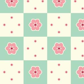 Checkerboard Petal - Victorian Rose