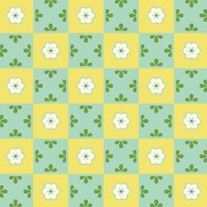 Checkerboard Leaf - Victorian Lemon