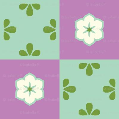 Checkerboard Leaf - Victorian Violet