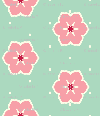 Cream Dots Floral - Victorian Rose