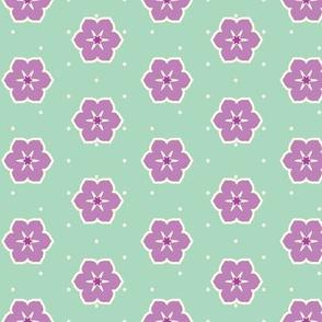 Cream Dots Floral - Victorian Violet