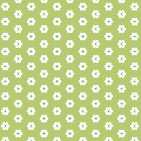Cream Floral - Victorian Green fabric by inscribed_here on Spoonflower - custom fabric