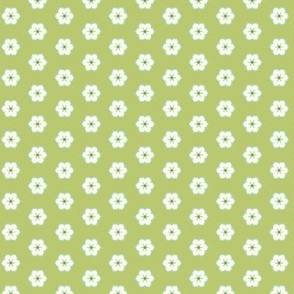 Cream Floral - Victorian Green