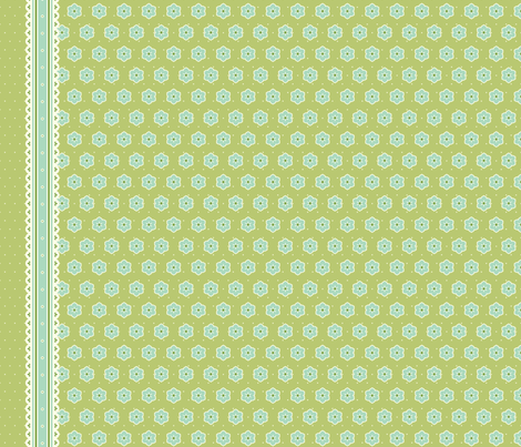 Border Ribbon - Victorian Green fabric by inscribed_here on Spoonflower - custom fabric