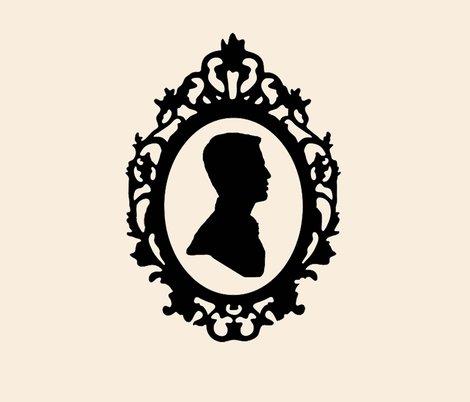 Victorian Silhouette - Man fabric - kendel - Spoonflower