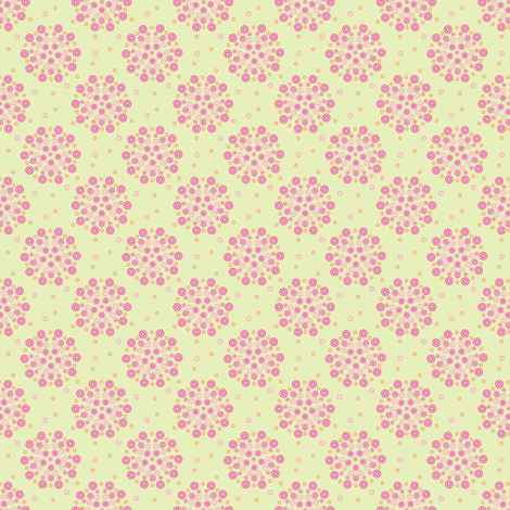 Isabelle Circles Pink fabric by kezia on Spoonflower - custom fabric