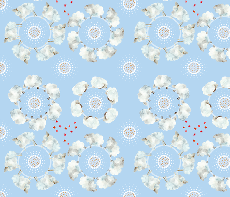 123 moutons  tournent fabric by nadja_petremand on Spoonflower - custom fabric