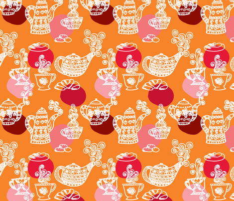 a_table_set fabric by nadja_petremand on Spoonflower - custom fabric