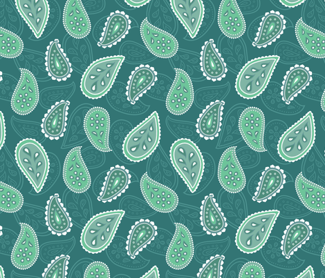 Pearly Paisley fabric by gracedesign on Spoonflower - custom fabric