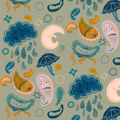 Paisley by night fabric by teken-ing on Spoonflower - custom fabric