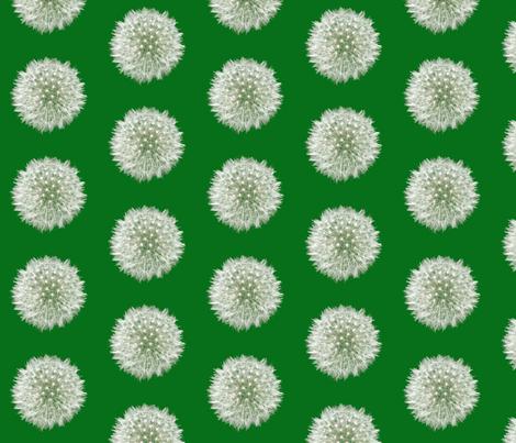 Green Dandelion  fabric by nezumiworld on Spoonflower - custom fabric