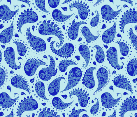 paisley pisces fabric by uzumakijo on Spoonflower - custom fabric