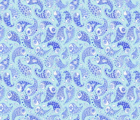 pisces paisley fabric by uzumakijo on Spoonflower - custom fabric