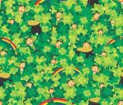 Field_of_Leprechauns fabric by illustrative_images on Spoonflower - custom fabric