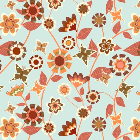 Folky Floral fabric by kezia on Spoonflower - custom fabric