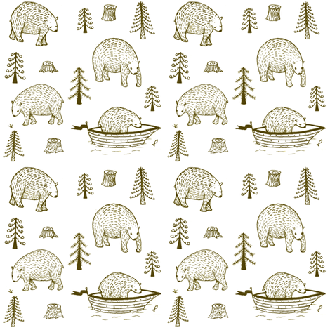 brown_bears fabric by serenacurmi on Spoonflower - custom fabric