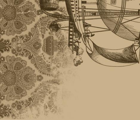 Steampunk Fabric for Lolita Dress - Skirt fabric by madamemiau on Spoonflower - custom fabric