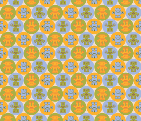 Funky_Robots fabric by elenakm on Spoonflower - custom fabric