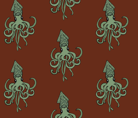 Swimming in a Sea of Chocolate fabric by pond_ripple on Spoonflower - custom fabric