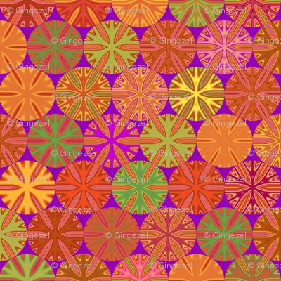 Citrus Slices Geometric on purple large