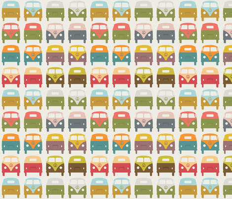 VW_Bus1 fabric by sarak721 on Spoonflower - custom fabric