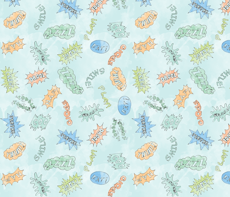 Comical Baby fabric by leighr on Spoonflower - custom fabric