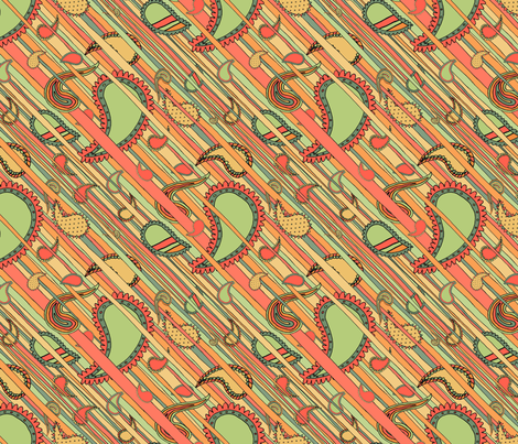 Stripes and Paisleys fabric by seidabacon on Spoonflower - custom fabric