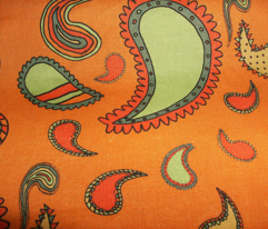 Paisley on Pumpkin Orange