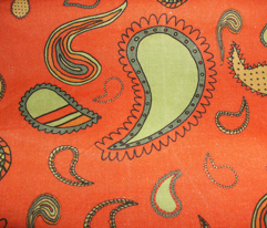 Paisley on Tomato Red
