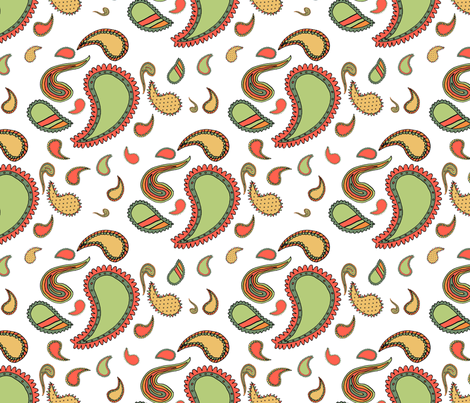 Paisley on White fabric by seidabacon on Spoonflower - custom fabric