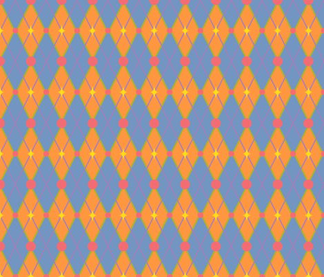 OhBoyArgyle-BlueOrange fabric by tammikins on Spoonflower - custom fabric