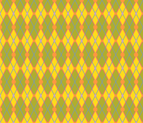 OhBoyArgyle-GreenYellow fabric by tammikins on Spoonflower - custom fabric