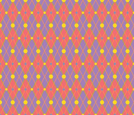 GoGirlArgyle-PinkPurple fabric by tammikins on Spoonflower - custom fabric