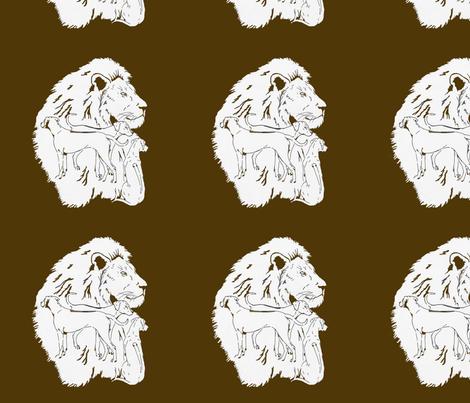 LionDogsRV fabric by justridgebacks on Spoonflower - custom fabric