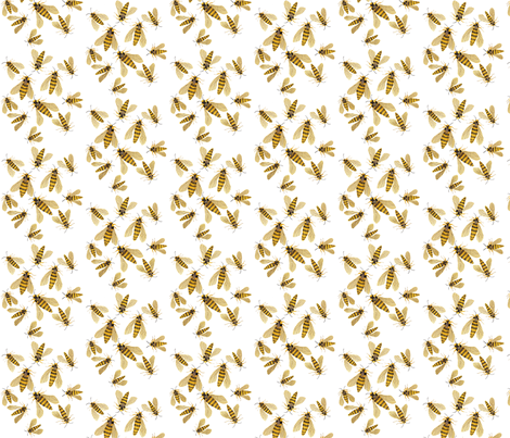 Hornet Moths fabric by gollybard on Spoonflower - custom fabric
