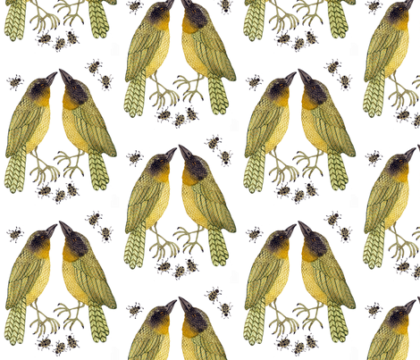 Yellowthroats  fabric by gollybard on Spoonflower - custom fabric