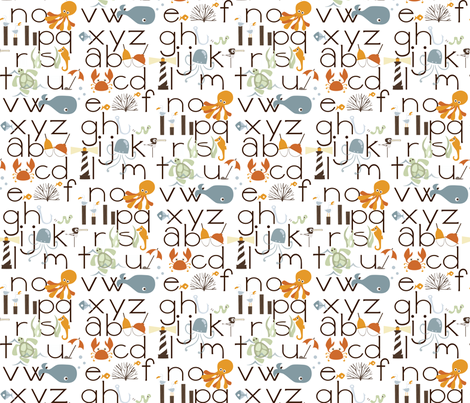 If By Ocean - ABeachC's fabric by ttoz on Spoonflower - custom fabric