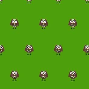 Green Owl print