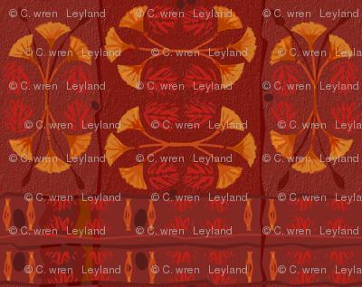 Lotus Red Tiki Plaid