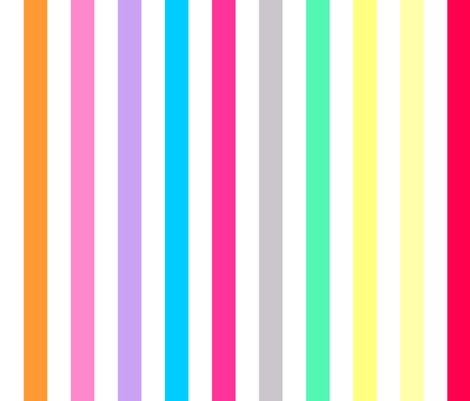 Kate And Jeanette Candy Shop Rainbow Stripe Pastel Print Wallpaper