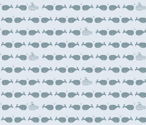 If By Ocean - Beach Block Coordinate, Whale ♥ fabric by ttoz on Spoonflower - custom fabric
