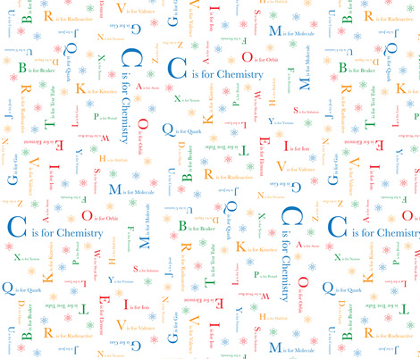 C is for Chemistry fabric by robyriker on Spoonflower - custom fabric