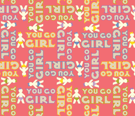 YouGoGirl fabric by tammikins on Spoonflower - custom fabric