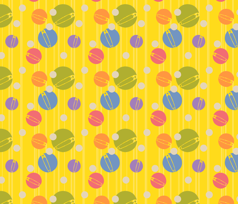 SpotOn-Yellow fabric by tammikins on Spoonflower - custom fabric