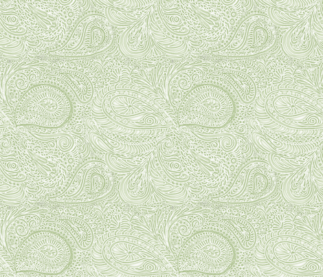 fern_paisley_batik fabric by wiccked on Spoonflower - custom fabric