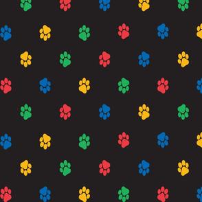 Paws (black background)